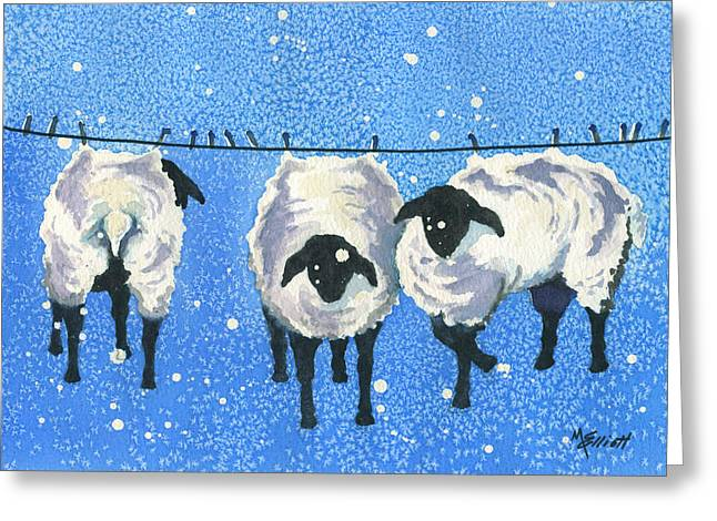 Wool   Wash Cold Line Dry Only Greeting Card
