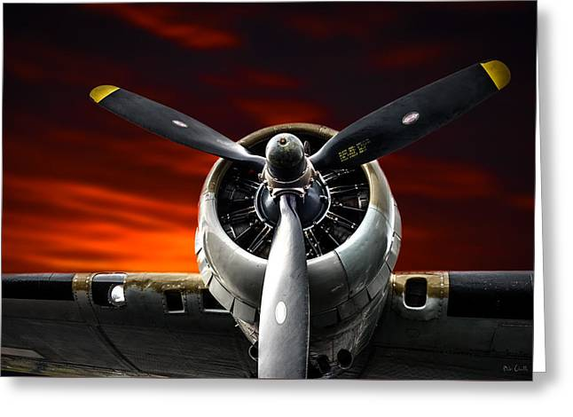 Wright Cyclone Boeing B-17 Flying Fortress Greeting Card by Bob Orsillo