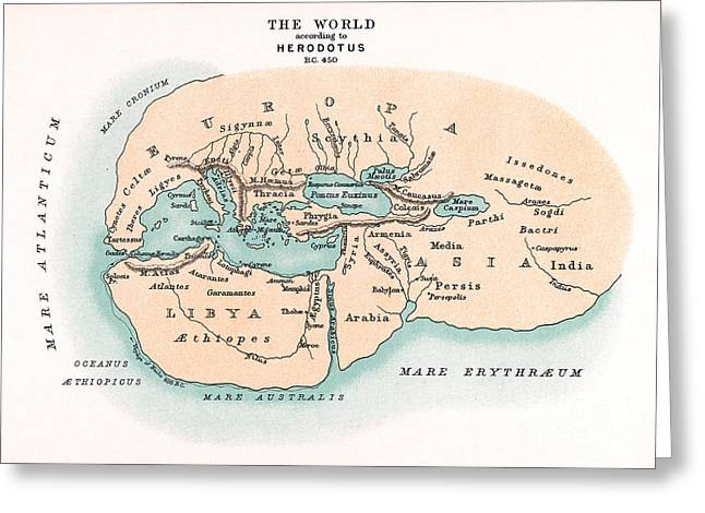 World Map Greeting Card by Granger