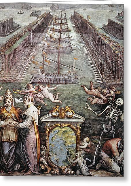 Battle Of Lepanto, 1571 Greeting Card by Granger