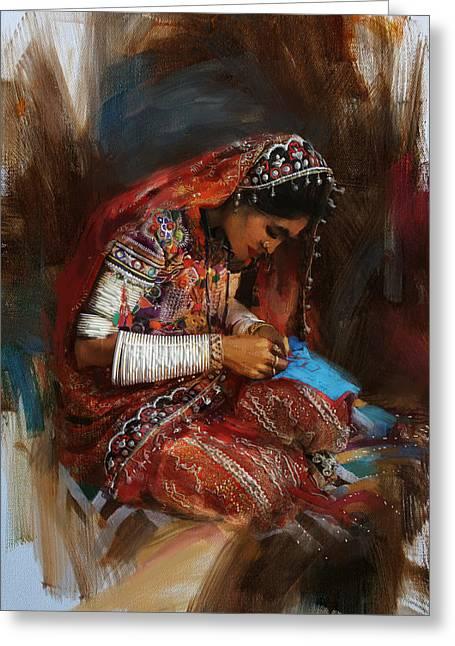 001 Sindh Greeting Card by Mahnoor Shah