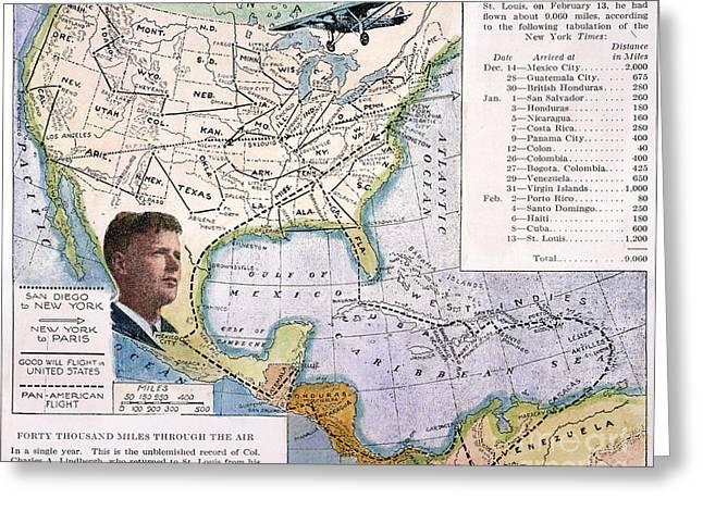 Charles Lindbergh Greeting Card by Granger