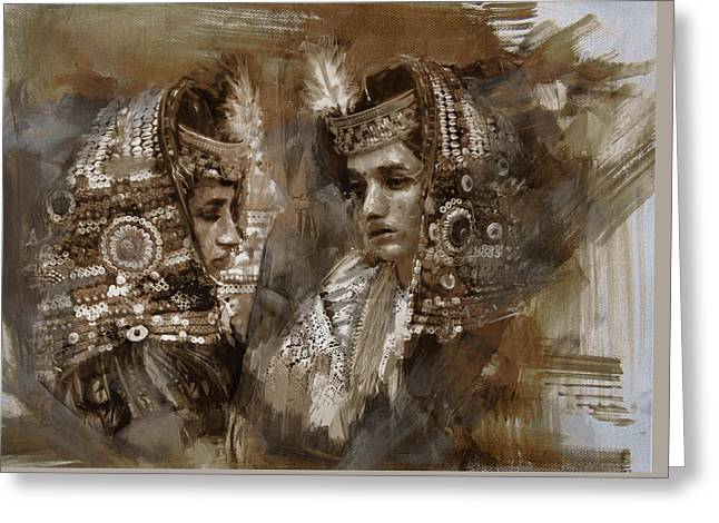 004 Kazakhstan Culture Greeting Card by Mahnoor Shah