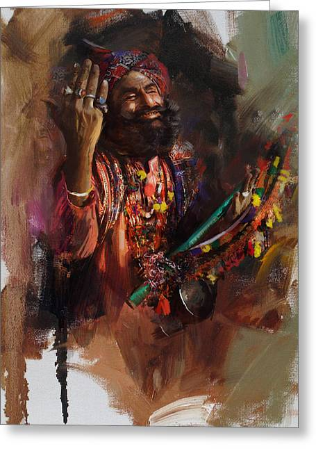 004 Sindh Greeting Card by Mahnoor Shah