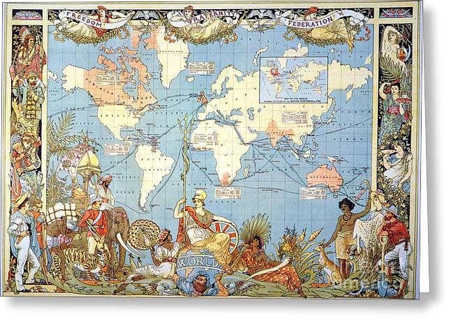 Map: British Empire, 1886 Greeting Card by Granger