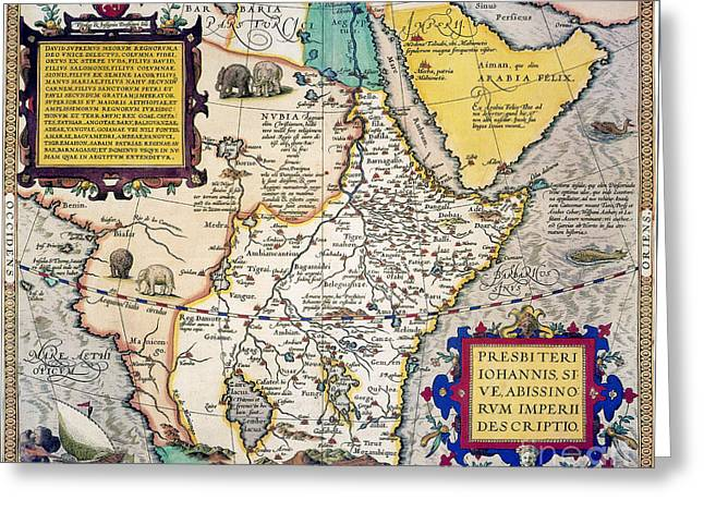 African Map, 1595 Greeting Card by Granger