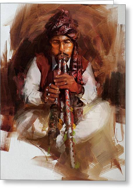 005 Sindh Greeting Card by Mahnoor Shah