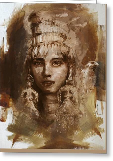 006 Kazakhstan Culture Greeting Card by Mahnoor Shah