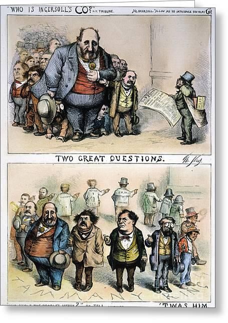Nast: Tweed Corruption Greeting Card by Granger