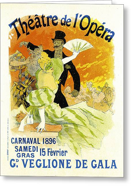 Theatre Opera Greeting Card by Jules Cheret