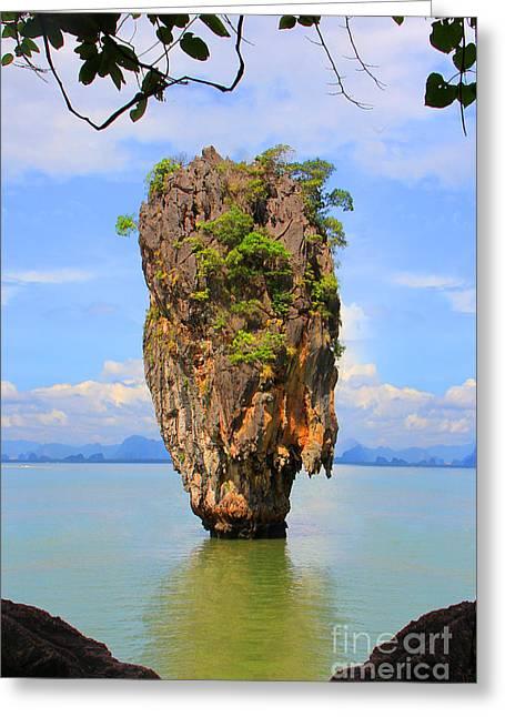 007 Island Greeting Card by Mark Ashkenazi