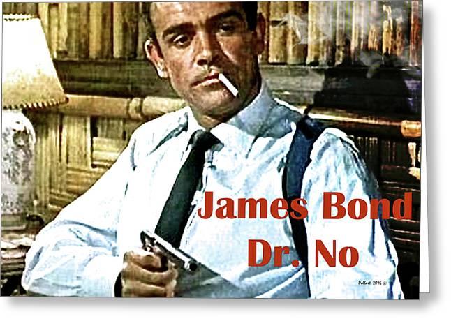 007, James Bond, Sean Connery, Dr No Greeting Card