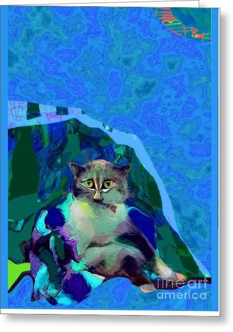007 The Under Covers Cat Greeting Card