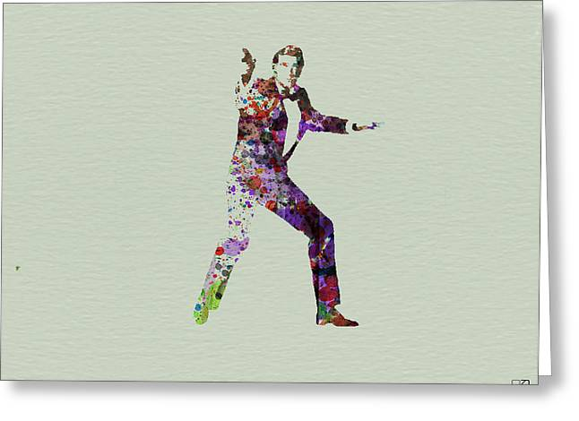 Famous Actors Greeting Cards - 007 Watercolor Greeting Card by Naxart Studio