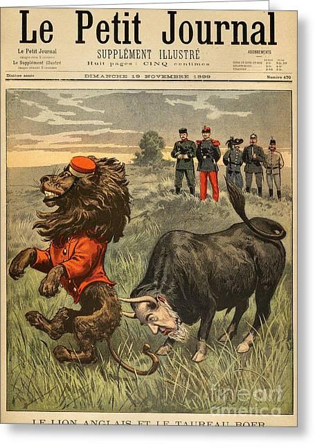 Boer War Cartoon, 1899 Greeting Card by Granger
