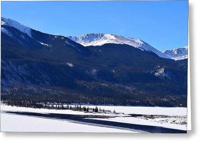 Greeting Card featuring the photograph Twin Lakes Leadville Co by Margarethe Binkley