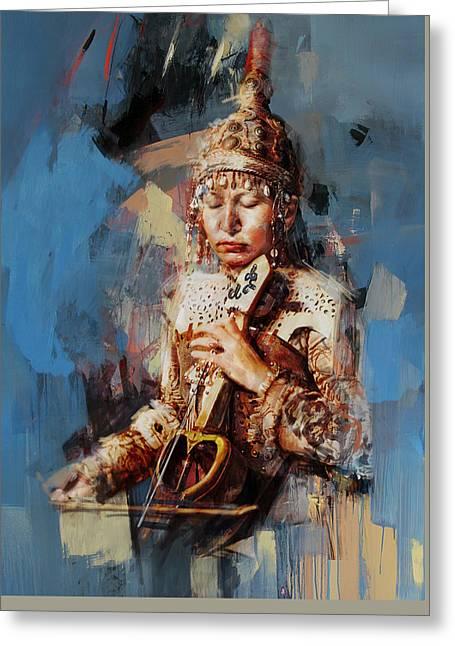 011 Kazakhstan Culture Greeting Card by Maryam Mughal