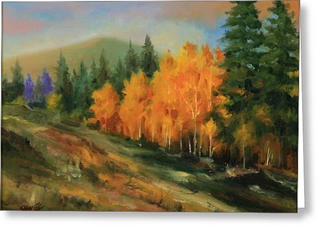 011016-1114  Autumn Aspens Greeting Card by Kenneth Shanika