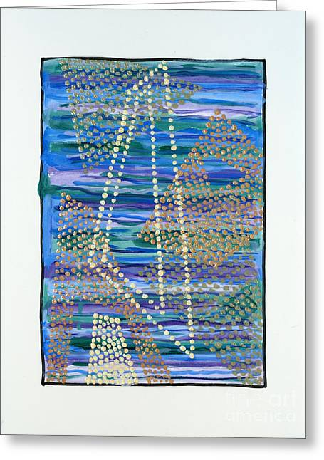 01330 Lean Greeting Card by AnneKarin Glass