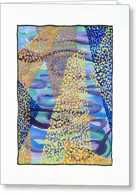 01331 Rise Greeting Card by AnneKarin Glass