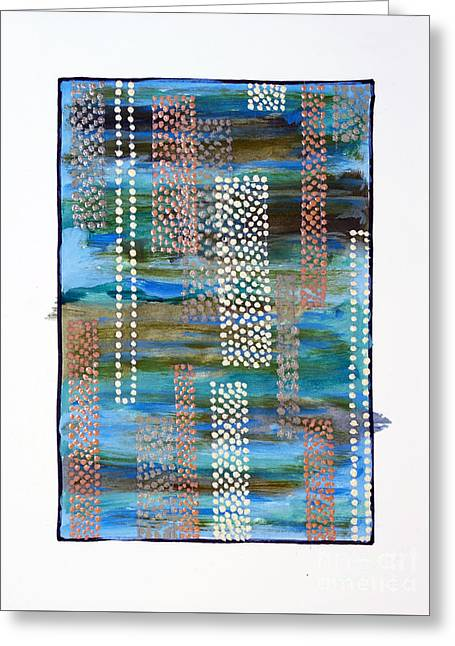 01332 Straight Greeting Card by AnneKarin Glass
