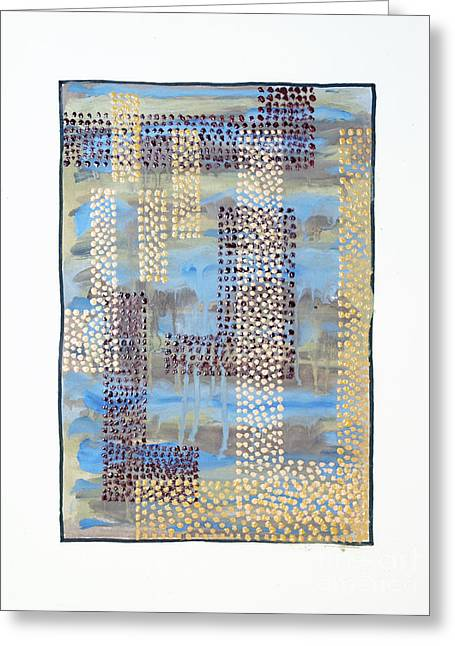 01334 Over Greeting Card by AnneKarin Glass