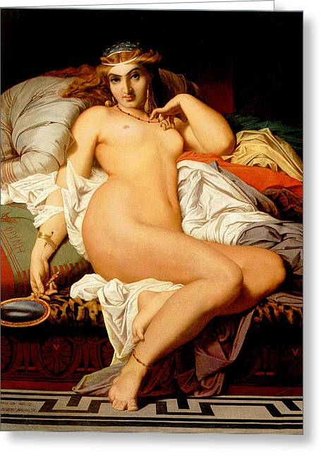 Phryne Greeting Card by Gustave Boulanger