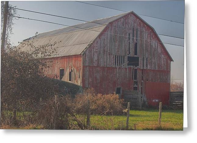 0153 - Dodge Road Red I Greeting Card