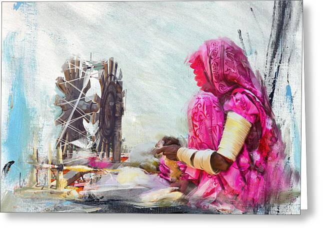 024 Sindh Greeting Card by Maryam Mughal