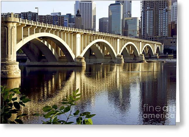 0333 3rd Avenue Bridge Minneapolis Greeting Card
