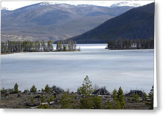 Greeting Card featuring the photograph Granby Lake Rmnp by Margarethe Binkley