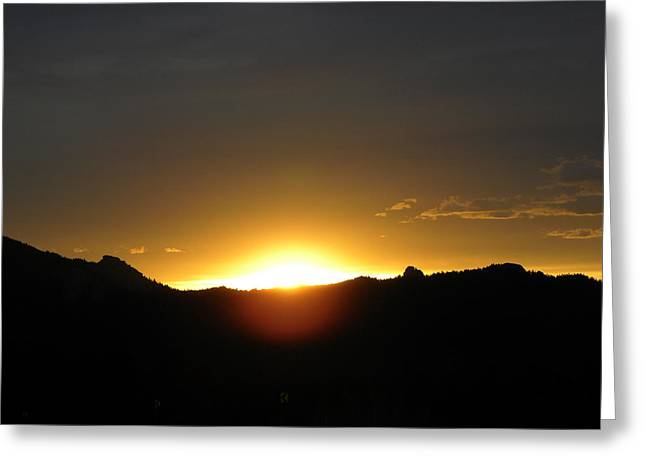 Sunrise West Side Of Rmnp Co Greeting Card