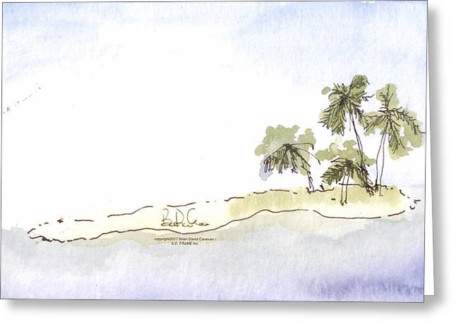 04.belize.snorkel.island Greeting Card
