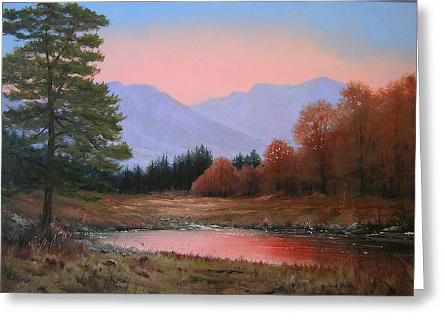 051116-3020     First Light Of Day   Greeting Card by Kenneth Shanika