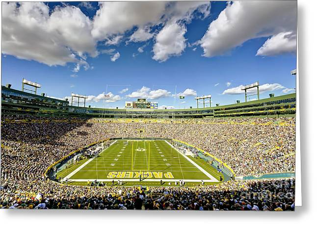 0538 Lambeau Field Greeting Card by Steve Sturgill