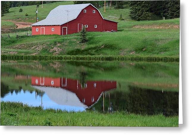 Red Barn Burgess Res Divide Co Greeting Card