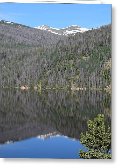 Chambers Lake Reflection Hwy 14 Co Greeting Card