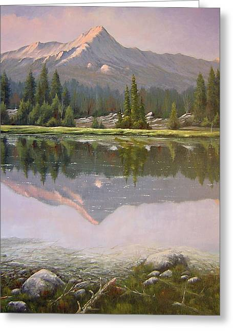 060923-2430  Reflections At Days End   Greeting Card by Kenneth Shanika