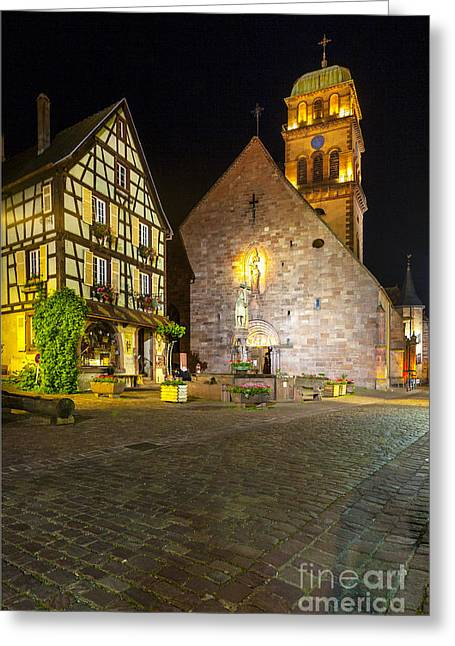 Half-timbered Houses, Kaysersberg Alsace France  Greeting Card by Marco Arduino