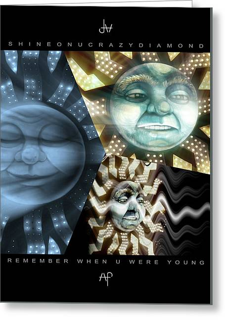 07 Shine On You Crazy Diamond Part1 - Remember Greeting Card