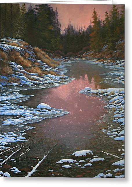 080210-3040 Early Morning Light - Winter Greeting Card by Kenneth Shanika