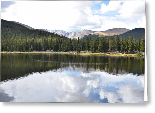 Greeting Card featuring the photograph Echo Lake Reflection Mnt Evans Co by Margarethe Binkley