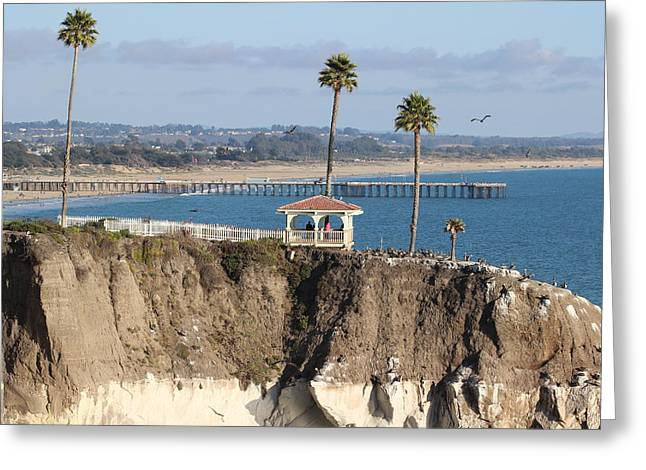 Pismo Beach Gazebo And Pier Greeting Card