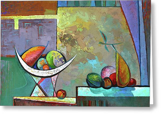 Still Life With Frutit Greeting Card by Alexey Kvaratskheliya