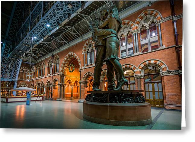 The Meeting Place Greeting Card by Ian Hufton