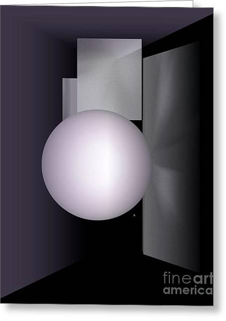 Greeting Card featuring the digital art 1-2017 by John Krakora