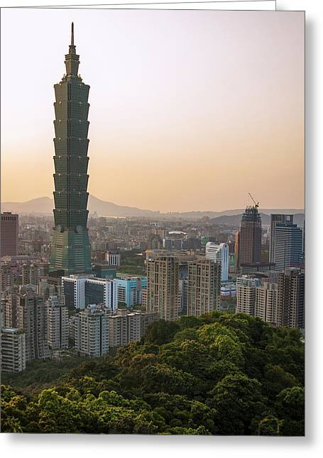 101 Tower Sunset Greeting Card