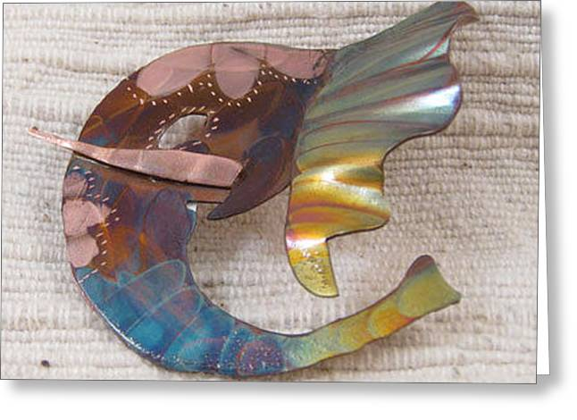 1393 Elephant Ear Pendant Greeting Card by Dianne Brooks