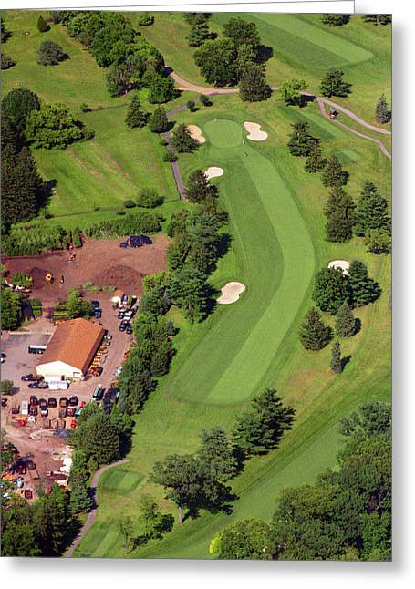 Plymouth Meeting Aerials Greeting Cards - 14th Hole Sunnybrook Golf Club Greeting Card by Duncan Pearson