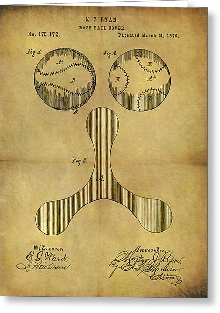 1876 Baseball Patent Greeting Card by Dan Sproul